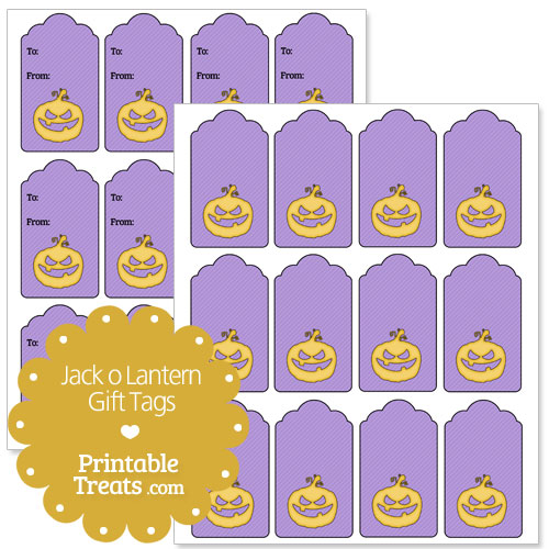 jack o lantern gift tags