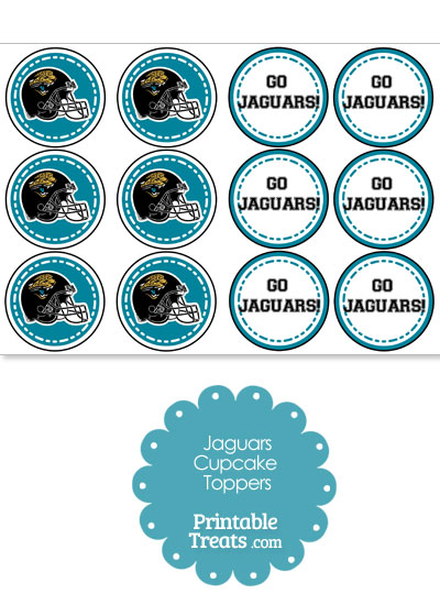 Jacksonville Jaguars Cupcake Toppers from PrintableTreats.com