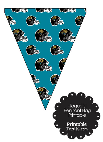 Jacksonville Jaguars Football Helmet Pennant Banners from PrintableTreats.com