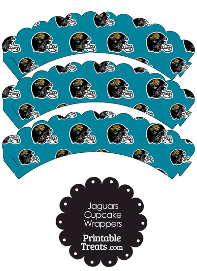 Jacksonville Jaguars Football Helmet Scalloped Cupcake Wrappers from PrintableTreats.com