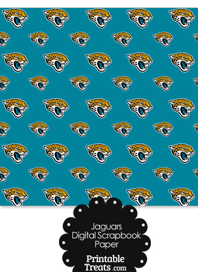 Jacksonville Jaguars Logo Digital Paper from PrintableTreats.com
