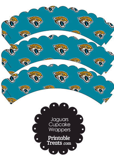 Jacksonville Jaguars Logo Scalloped Cupcake Wrappers from PrintableTreats.com
