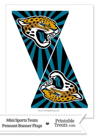Jacksonville Jaguars Mini Pennant Banner Flags from PrintableTreats.com