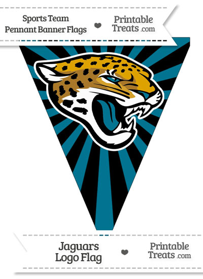 Jacksonville Jaguars Pennant Banner Flag from PrintableTreats.com