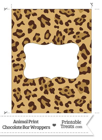 Jaguar Print Chocolate Bar Wrappers from PrintableTreats.com