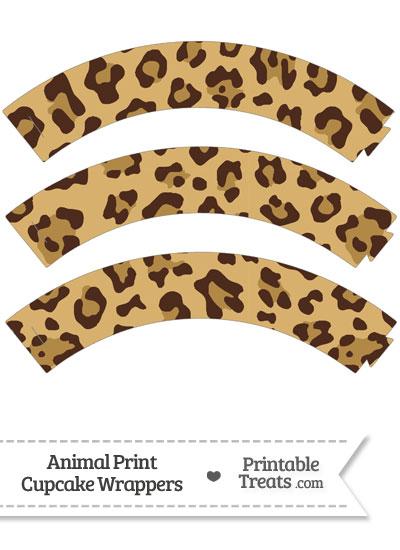 Jaguar Print Cupcake Wrappers from PrintableTreats.com