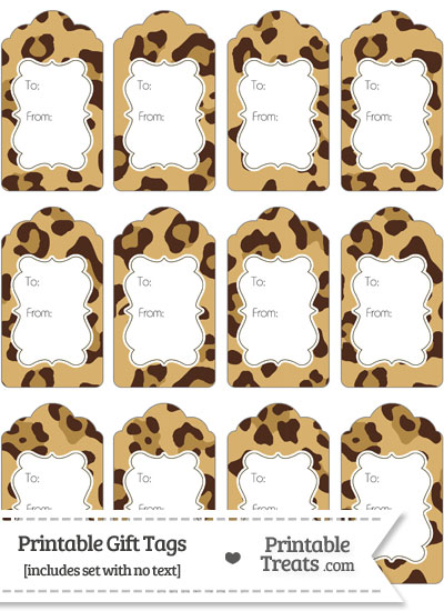 Jaguar Print Gift Tags from PrintableTreats.com