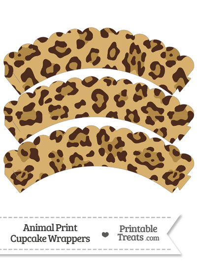 Jaguar Print Scalloped Cupcake Wrappers from PrintableTreats.com