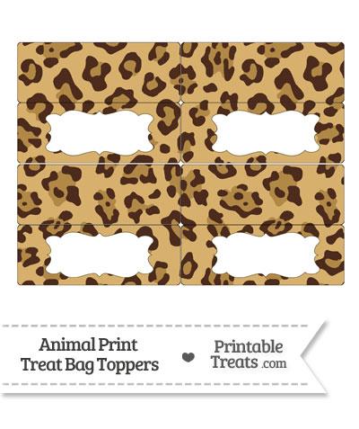 Jaguar Print Treat Bag Toppers from PrintableTreats.com