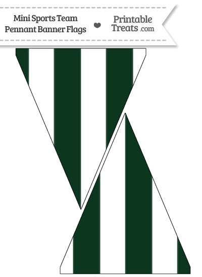 Jets Colors Mini Pennant Banner Flags from PrintableTreats.com