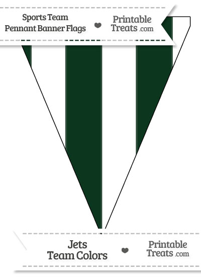 Jets Colors Pennant Banner Flag from PrintableTreats.com