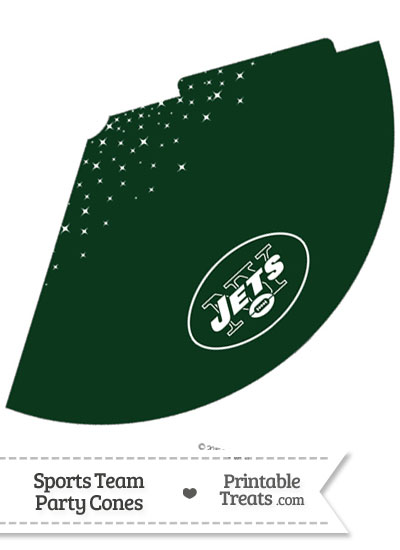 Jets Party Cone Printable from PrintableTreats.com