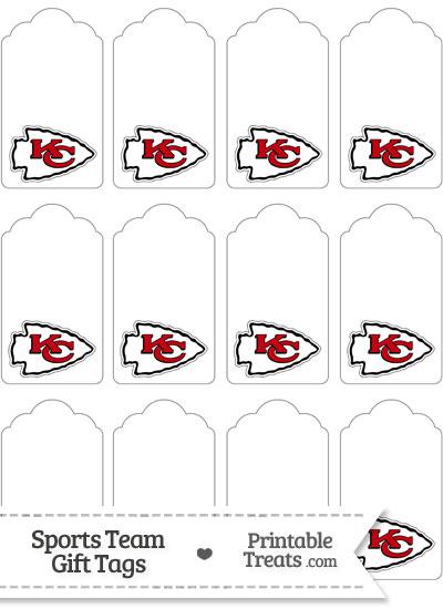 Kansas City Chiefs Gift Tags from PrintableTreats.com