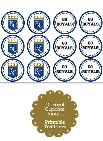 Kansas City Royals Cupcake Toppers from PrintableTreats.com