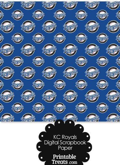 Kansas City Royals Logo Digital Paper from PrintableTreats.com