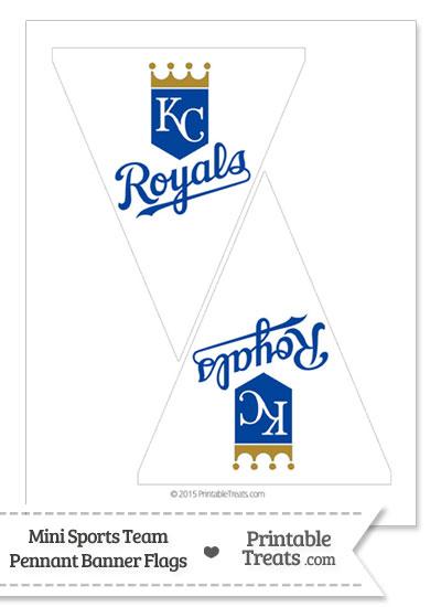 Kansas City Royals Mini Pennant Banner Flags from PrintableTreats.com