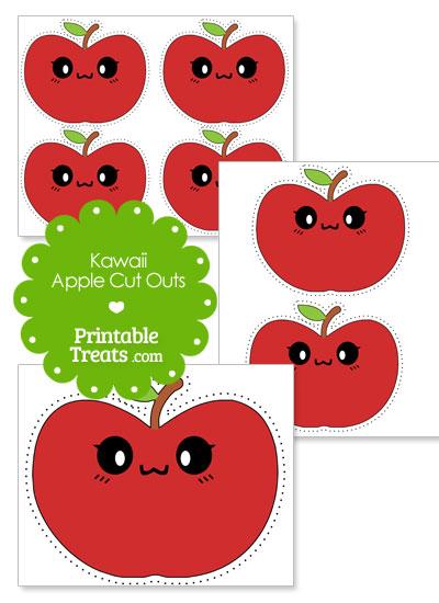 kawaii apple cut outs from PrintableTreats.com