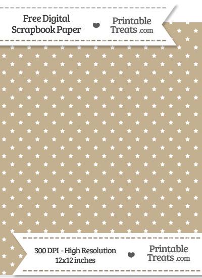 Khaki Mini Stars Digital Paper from PrintableTreats.com