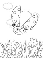 Ladybug Coloring Pages from PrintableTreats.com