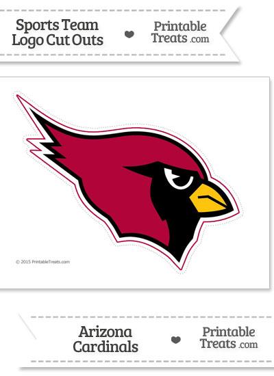 Large Arizona Cardinals Logo Cut Out from PrintableTreats.com