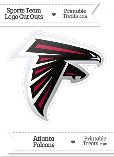 Large Atlanta Falcons Logo Cut Out from PrintableTreats.com