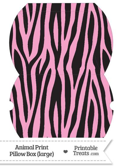 Large Baby Pink Zebra Print Pillow Box from PrintableTreats.com