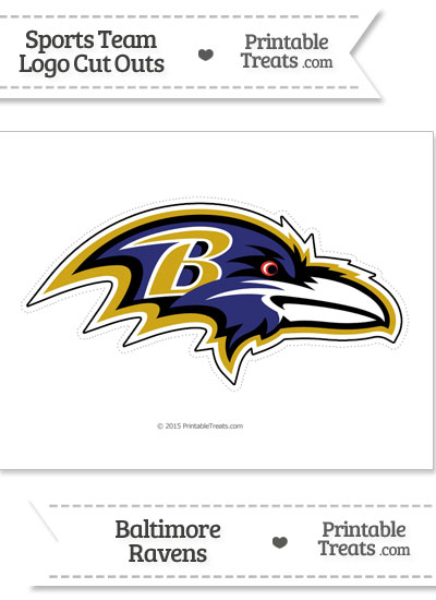 Large Baltimore Ravens Logo Cut Out from PrintableTreats.com