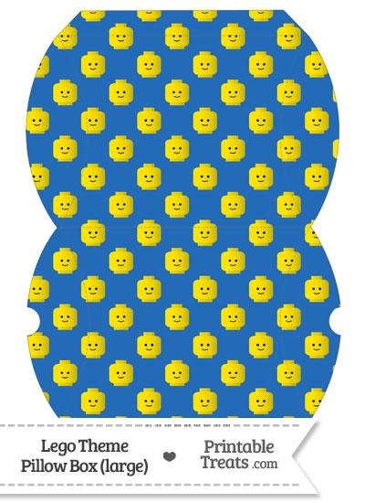 Large Blue Lego Theme Pillow Box from PrintableTreats.com