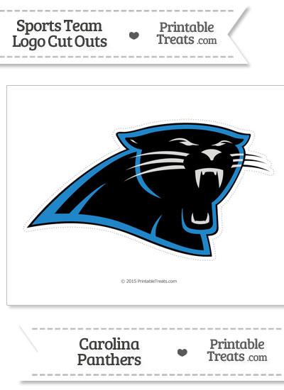 Large Carolina Panthers Logo Cut Out from PrintableTreats.com