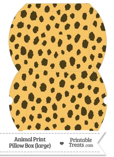 Large Cheetah Print Pillow Box from PrintableTreats.com