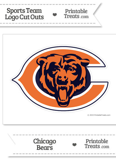 Large Chicago Bears Logo Cut Out from PrintableTreats.com