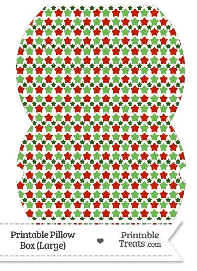 Large Christmas Stars Pillow Box from PrintableTreats.com