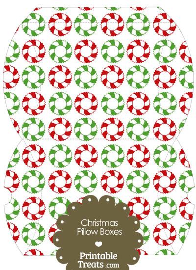 Large Christmas Wreath Pillow Box from PrintableTreats.com