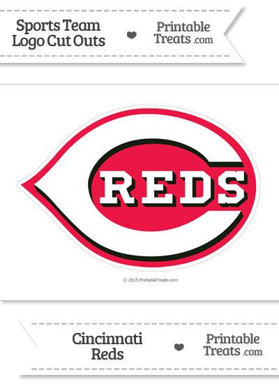 Large Cincinnati Reds Logo Cut Out from PrintableTreats.com