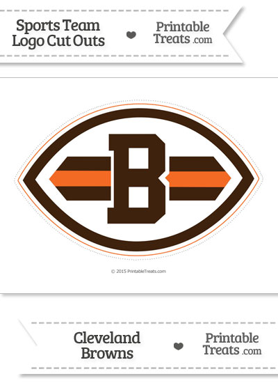 Large Cleveland Browns Logo Cut Out from PrintableTreats.com