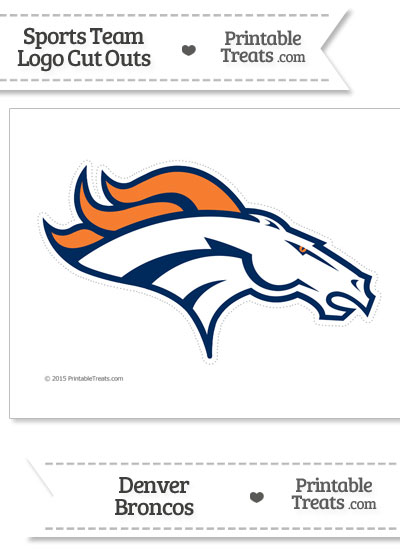 Large Denver Broncos Logo Cut Out from PrintableTreats.com