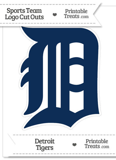 Large Detroit Tigers Logo Cut Out from PrintableTreats.com
