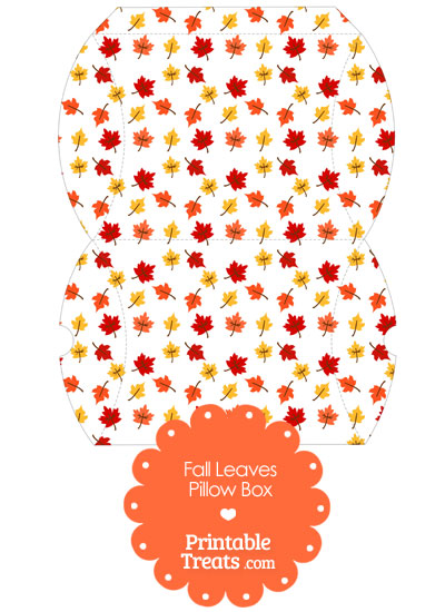 Large Fall Leaves Pillow Box from PrintableTreats.com