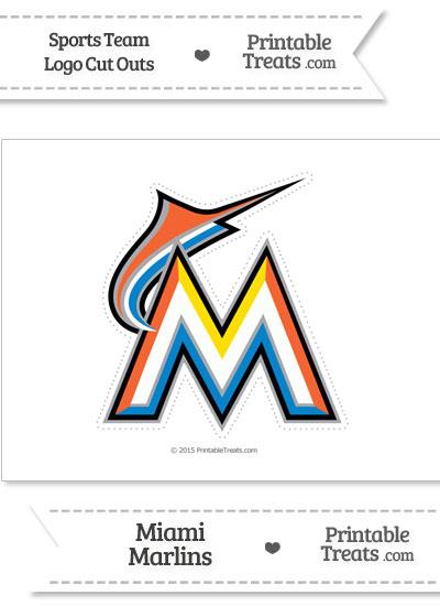 Large Florida Marlins Logo Cut Out from PrintableTreats.com