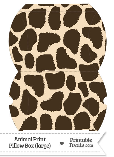 Large Giraffe Print Pillow Box from PrintableTreats.com