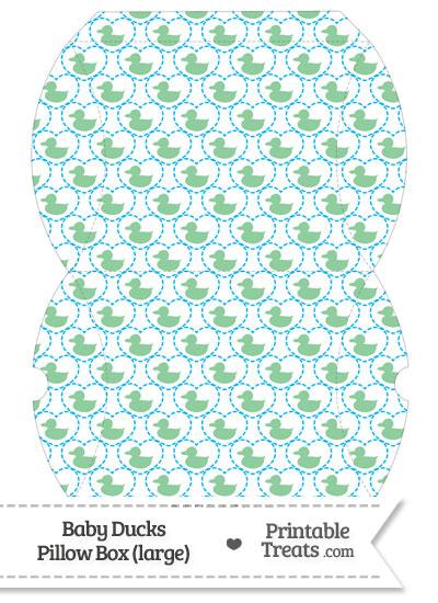 Large Green Baby Ducks Pillow Box from PrintableTreats.com