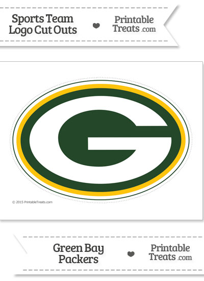 Large Green Bay Packers Logo Cut Out from PrintableTreats.com
