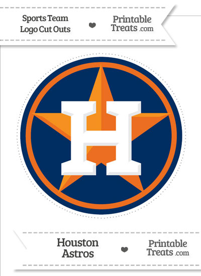 Large Houston Astros Logo Cut Out from PrintableTreats.com