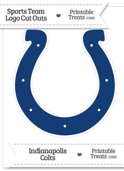 Large Indianapolis Colts Logo Cut Out from PrintableTreats.com