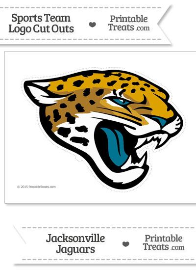 Large Jacksonville Jaguars Logo Cut Out from PrintableTreats.com