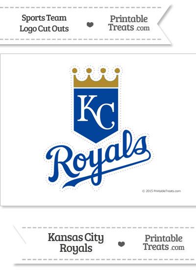 Large Kansas City Royals Logo Cut Out from PrintableTreats.com