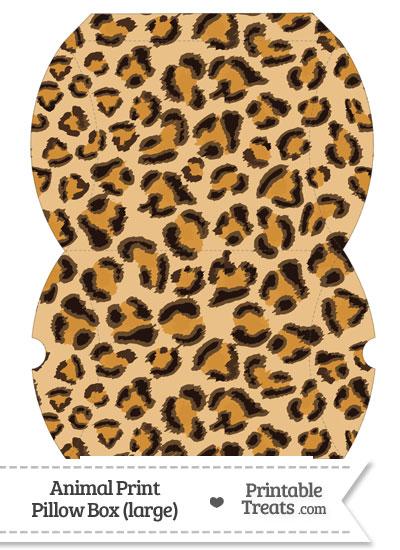 Large Leopard Print Pillow Box from PrintableTreats.com