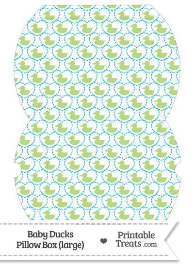 Large Light Green Baby Ducks Pillow Box from PrintableTreats.com