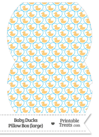 Large Light Orange Baby Ducks Pillow Box from PrintableTreats.com