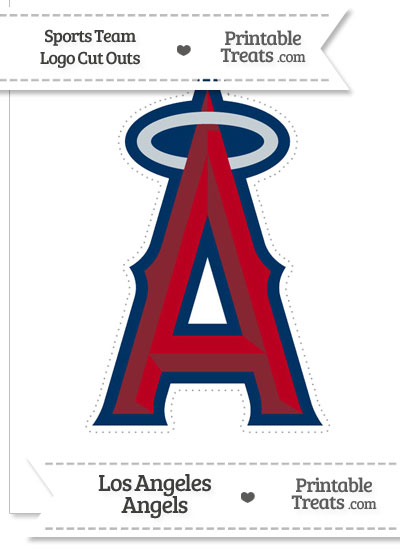 Large Los Angeles Angels Logo Cut Out from PrintableTreats.com